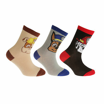 Paw Patrol Childrens/Kids Official Cotton Rich Socks (Pack Of 3) (K323)