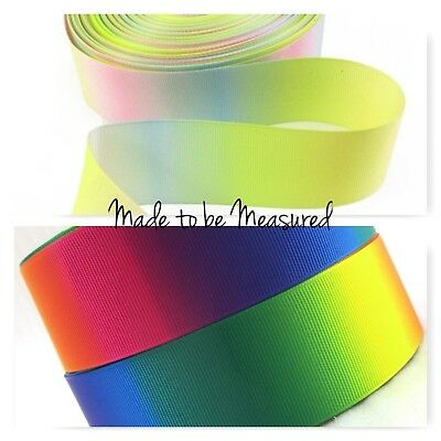 Grosgrain Ribbon - 1.5 Inch - 38 mm - Print by the Metre - Vertical Graduating