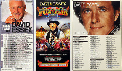 4 X David Essex Flyers  - The Rock Tour - Greatest Hits -  Fun Of The Fair