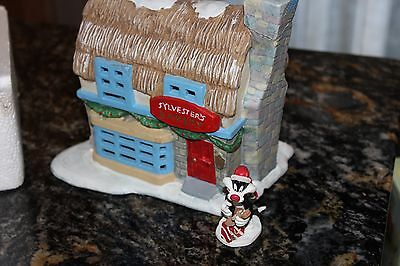 Warner Brothers Looney Tunes Porcelain Sylvester's Bakery lighted in box