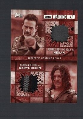 Walking Dead Jeffrey Dean Morgan Negan Norman Redus Daryl Wardrobe Relic 02/10