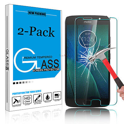 2X Tempered REAL GLASS Screen Protector Film For Motorola Moto G4 G5 G5S Plus OU