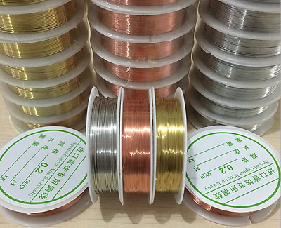 A Roll Wholesale Lot Soft Copper Wire/Wire line for DIY Jewelry Making 0.2-1mm