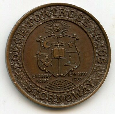 Lodge Fortrose Stornawoy Number 108  Masonic  Penny  Token