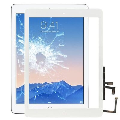Apple Ipad Air Display Glass Touch Screen Home Button Windscreen White