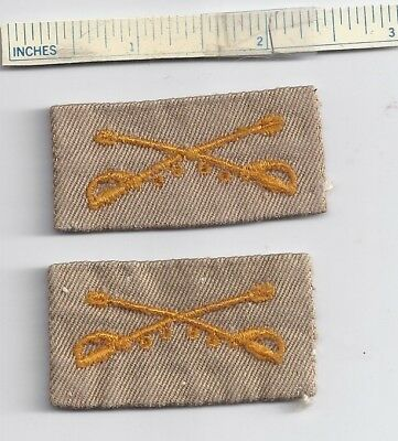 Lot of 2 Orig (1 set) WW2 Patches - US CALVERY WWII Shoulder Military Patch USA