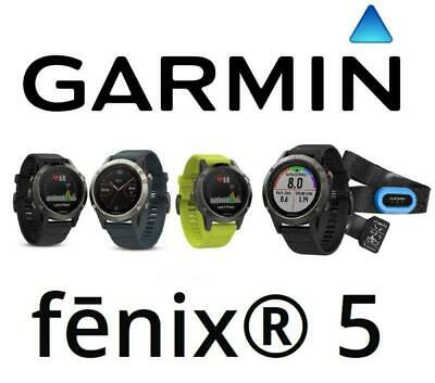 Garmin Fenix 5 Advanced GPS Wrist HR Watch MultiSport Fitness Running 47 MM