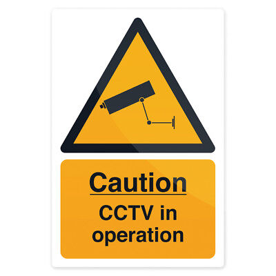 Fixman 494121 200 x 300mm Self-Adhesive CCTV In Operation Sign