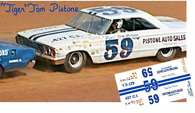CD_2824 #59 Tiger Tom Pistone  1964 Ford  1:25 scale decals