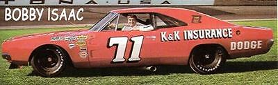CD_1359 #71 Bobby Isaac K&K Insurance Charger     1:24 scale decals