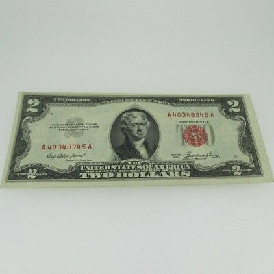 1953 Red Seal United States Two Dollar Note 600434
