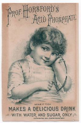 Trade card for Horsford Acid Phosphate   Little girl with Jewelry