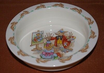 Royal Doulton Bunnykins Porringer England Fine Bone China Portrait Day Unused