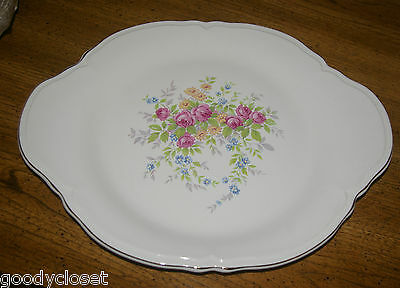 """Edwin Knowles 13"""" Platter Made In Usa Roses 47-11 Beautiful Condiiton No Wear"""