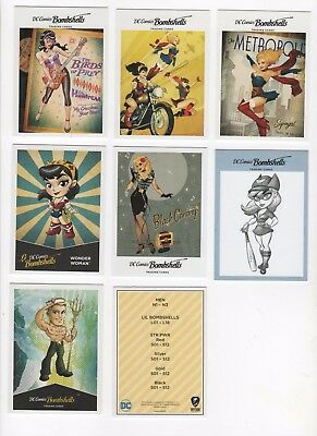 Cryptozoic DC Bombshells 100 card mini master set with base and inserts