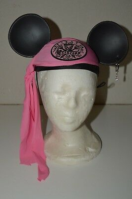 b60f63919e56f3 Girl's Pink Mickey Mouse Ears Disneyland Park Souvenir Pirate Princess EMMA