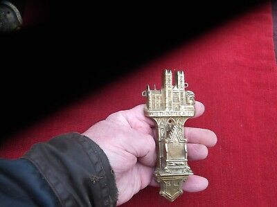 Antique Heavy Brass Westminster Abbey Door Knocker/london U.k.abbey Door Striker