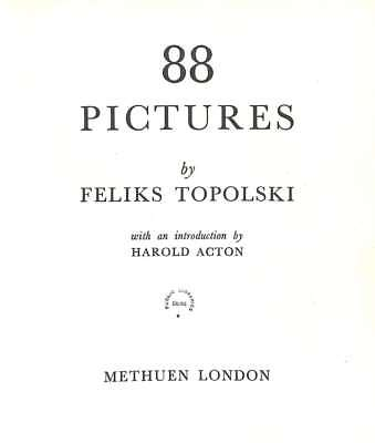 88 pictures, Topolski, Feliks, Good Condition Book, ISBN