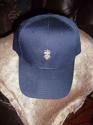 BSA Sea Scout Pin on Navy Blue Cap