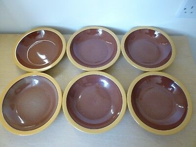 6 Denby Spice 8.5 inch Rimmed Bowls - 2 Sets Available