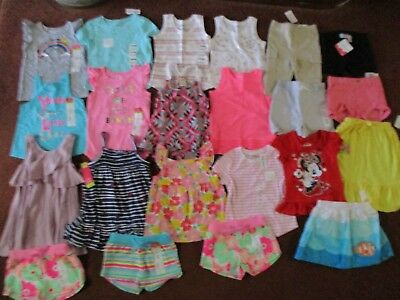 NWT'S 21Pc. Girls 2T-24 Months Summer Lot Clothes & Outfits Old Navy TCP Carter'