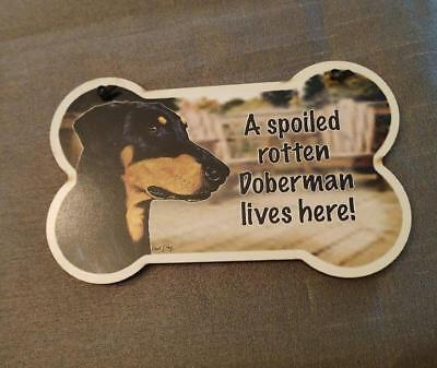 Small Dog Bone Shaped Wooden Plaque Spoiled Rotten Alaskan Malamute  Made in USA