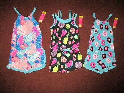 NWT'S  Girls 5T Lot of 3 Okie Dokie Summer Rompers