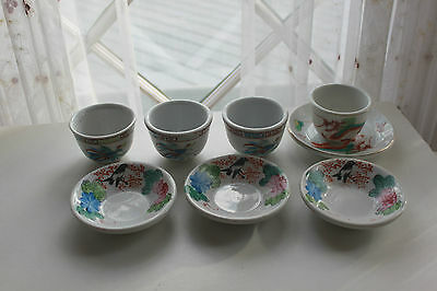 Vintage Oriental Restaurant Ware Tea Cups and Saucers F.S. Louie Berkley