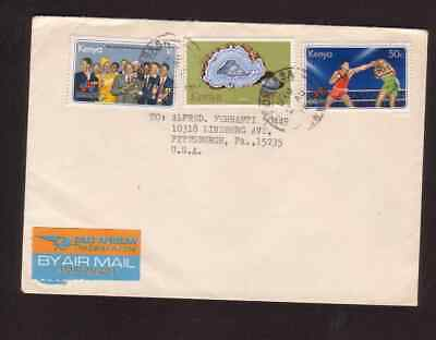 Kenya 1978 airmail cover to the USA East African Airmail Label