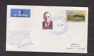South Africa 1979 cover to USA with Naivre cancel MV Atlantic Isle hand stamp