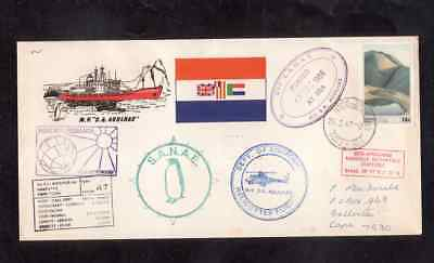 South Africa 1986 cover with Cape Town Paquebot cancel MV SA Agulhas Helicopter