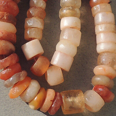 12 inch 30.5 cm strand ancient carnelian agate stone crystal beads mali #3956