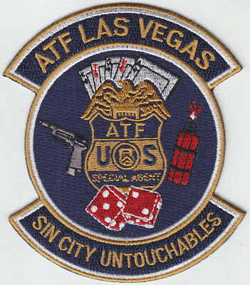 SIN CITY UNTOUCHABLES ATF Las Vegas NV Nevada Police patch DICE/PLATYING CARDS