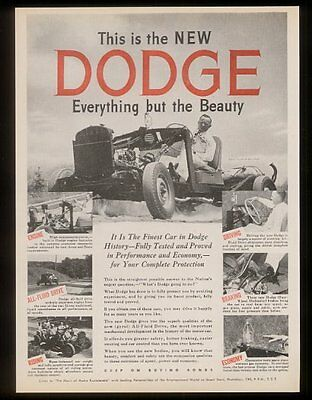 1945 Jimmie Lynch stunt man driver car chassis 7 photo Dodge vintage print ad