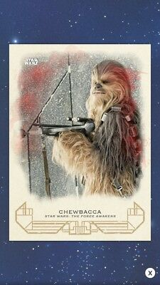 Topps Star Wars Card Trader Galactic Heritage Force Awakens Red Chewbacca