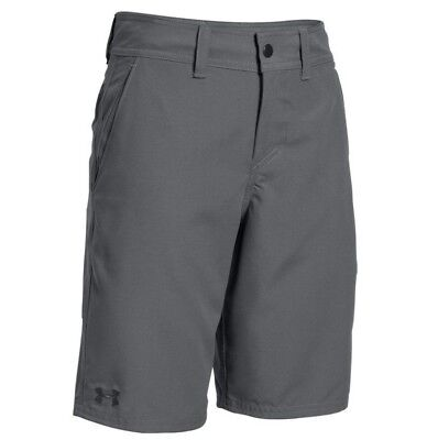 12 Under Armour Shorts Golf 1304511 Gray HeatGear Golf Board Boys Size