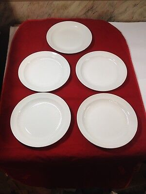 """Adams ~ English Ironstone Micratex ~ Wedgewood Group ~ Lot of 5 ~ 10 1/8"""" Plates"""