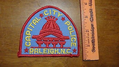 Raleigh North Carolina Capital City Police Obsolete  Patch Bk K#25