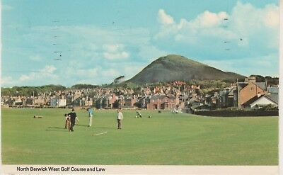 North Berwick West Golf Course & Law. 1982 postcard. Fair condition. Used