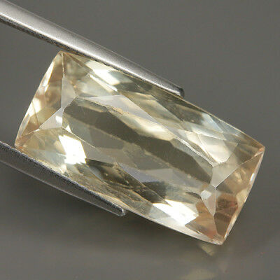 Beauty 15.37 Ct Natural Afghanistan Yellow KUNZITE Octagon Gem @ See Vdo !