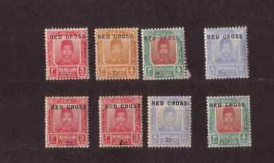 Malaya State of Trenggnau lot of mint hinged Red Cross stamps from 1917