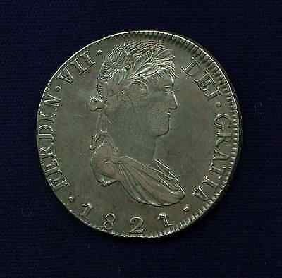 MEXICO WAR OF INDEPENDENCE ZACATECAS 1821-ZsRG 8 REALES SILVER COIN