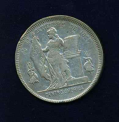 HONDURAS REPUBLIC   1894/2  1 PESO SILVER COIN,   XF to AMOST UNCIRCULATED