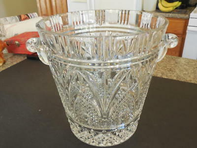 Large Vintage Leaded Cut Crystal Ice Bucket 12 Inches- Bling   ID:25477