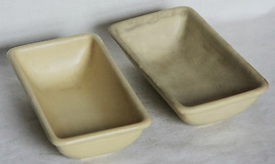Pair of Vintage Rectangular Dishes/Bowls - Grays Pottery