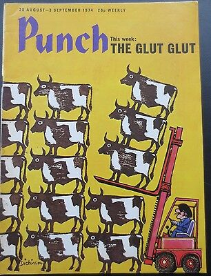 Punch Magazine Vintage Old 28 August 1974 Thelwell Cartoons Great Birthday Gift