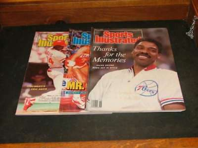 3 Issues Sports Illustrated May 4 - 25 1987 Julius Erving Retires, Eric  ID:2208