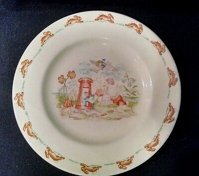 Vintage  ROYAL DOULTON Bunnykins Barbara Vernon Mail Delivery Collectible Plate