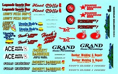 Gofer 11016 Hometown Sponsors Decal Sheet 1/24 and 1/25