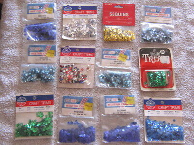12--Vintage Sequin Lot In Packages